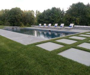 Large Yard With Pool And Stone Patio, Stonework Western MA, Landscape Architect Springfield MA, Landscape Designer Longmeadow MA, Landscape Architecture Wilbraham MA