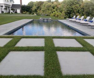 Large Yard With Pool And Stone Patio, Stonework Western MA, Patio Design Western MA, Patio Installation Western MA, Landscape Architecture Western MA