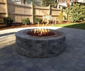 Outdoor Stone Fire Pit, Stone Patio, Patio Design Western MA, Outdoor Fire Pit Wilbraham MA, Outdoor Fire Pit Westfield MA