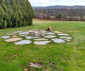 Outdoor Fit Pit In Yard, Stonework Western MA, Stone Fire Pit Western MA, Fire Pit Design Springfield MA, Fire Pit Design Longmeadow MA