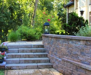 Stone Stairs And Wall, Stonework Longmeadow MA, Stonework Springfield MA, Stonework Wilbraham MA, Stonework Hampden MA