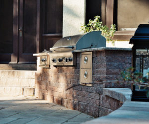 Outdoor Grill In Stone, Outdoor Grill, Chesky Residence, Stone Wall, Masonry Western MA